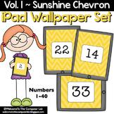 Sunshine Chevron iPad Wallpaper Set