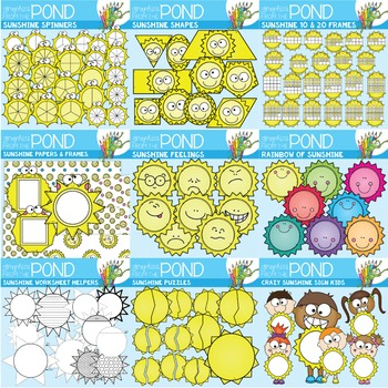 Sunshine Clipart Mega Pack