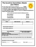 Sunshine Committee Form