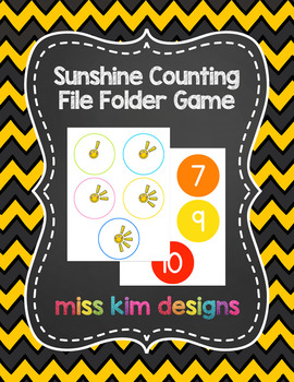 Sunshine Counting File Folder Game for Special Education