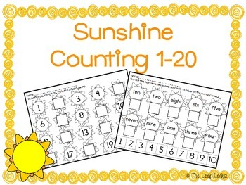 Sunshine Counting Practice 1-20