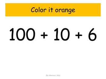 Sunshine Expanded Notation - Watch, Think, Color! CCSS.2.NBT.A.1