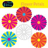 Sunshine Flower Petals! *  Clipart * Spring * Summer * Garden