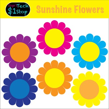 Sunshine Flowers! *  Clipart * Spring * Summer * Garden