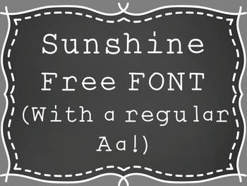 Sunshine Font