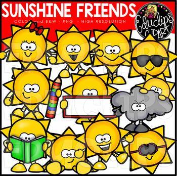 Sunshine Friends Clip Art Bundle {Educlips Clipart}