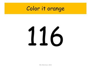 Sunshine Hundreds Chart to 120 - Watch, Think, Color! CCSS.1.NBT.A.1