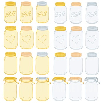 Sunshine Jars Clipart & Vectors - Ball Jar Clipart