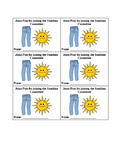 Editable Sunshine Jeans Passes