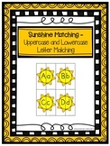 Sunshine Matching- Uppercase and Lowercase Letter Matching