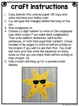 Sunshine Math Craft!