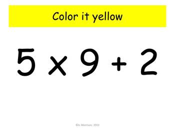 Sunshine Multiplication Practice - Watch, Think, Color! CCSS.3.OA.C.7