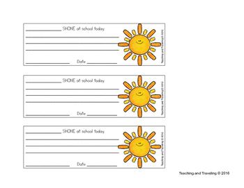 Communication with Parents - Sunshine Notes