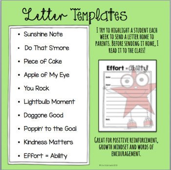 Sunshine Notes Positive Letters From Teachers