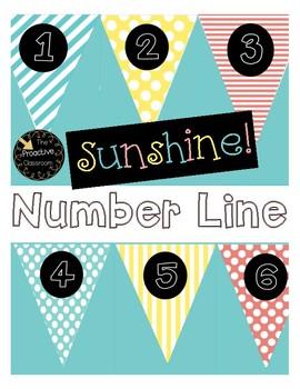 Sunshine Number Line Banner