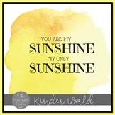 Sunshine Poster Freebie