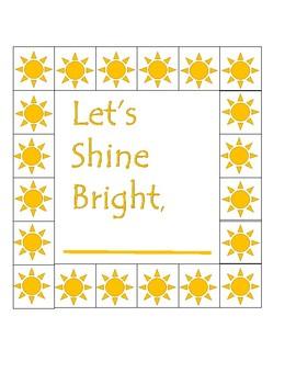 Sunshine Punch Cards