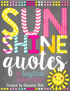 Sunshine Quote Printables