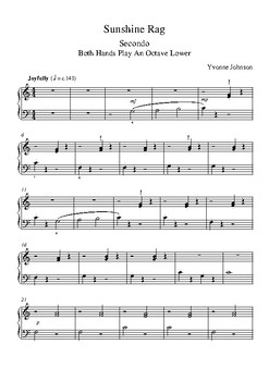 Sunshine Rag - A Piano Duet For Beginners