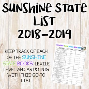 Sunshine State Books List Grades 3-5 (2018-2019)