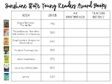 Sunshine State Young Reader Award Books 2018-2019 Tracking Sheet and Bookmark