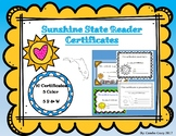 Sunshine State Young Readers Association Reading Certificates