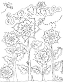 Sunshine Sunflowers Coloring Page & Clip Art