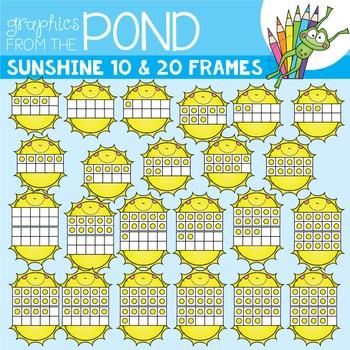 Sunshine Ten and Twenty Frame Clipart