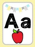 Sunshine Themed Classroom Decor - Alphabet Posters or Cards