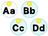 Sunshine Themed Classroom Decor - Word Wall Alphabet Headers