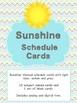 Sunshine Themed Classroom Decor - Schedule cards