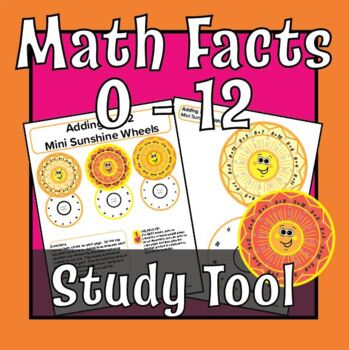 Sunshine Wheel Math Facts: Addition 0-12 and Mixed numbers