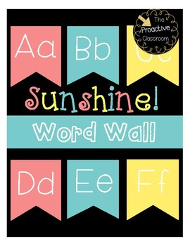 Sunshine Word Wall