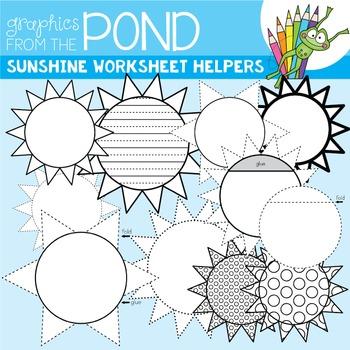 Sunshine Worksheet Helper Clipart