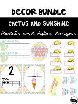 Sunshine and Cactus Decor Bundle