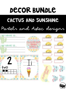 Sunshine and Cactus Decor Bundle