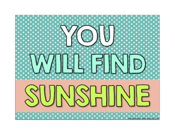 Sunshine and Positivity Motivational Quote Posters Set 1