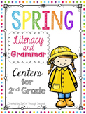 Spring Literacy and Grammar Centers - Second Grade - Reading Wonders