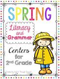 Spring Literacy and Grammar Centers - Second Grade - Readi