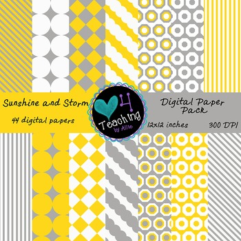 Sunshine and Storm Digital Paper Pack