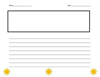 Sunshine writing paper (w/illustration box)
