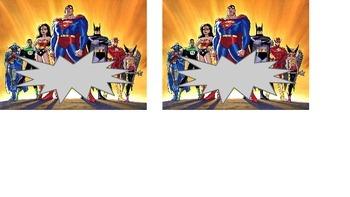 Super hero Name Plates