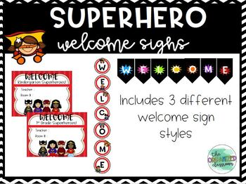 Supehero Welcome Sign
