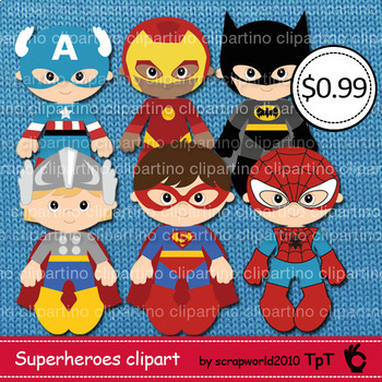 Supeheroes clipart BUNDLE