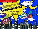 Superhero Sentence Writing