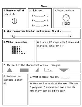 Super 1st Grade Math Review!