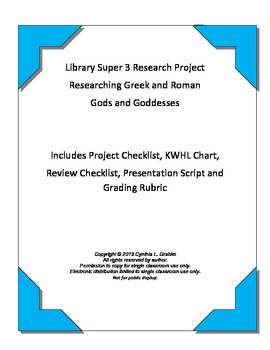 Super 3 Gods and Goddesses Research Project