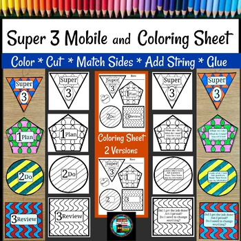 Super 3 Research Model Coloring Sheet and Mobile