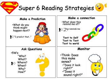Super 6 (+1) Reading Comprehension Strategies