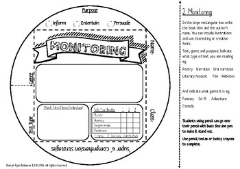 Super 6 Comprehension Strategies and Focus on Reading Literacy Cube